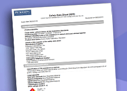 image of a Safety Data Sheet
