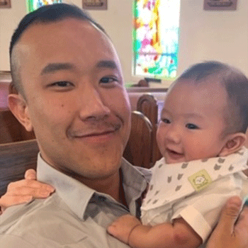 Christopher Nguyen and baby